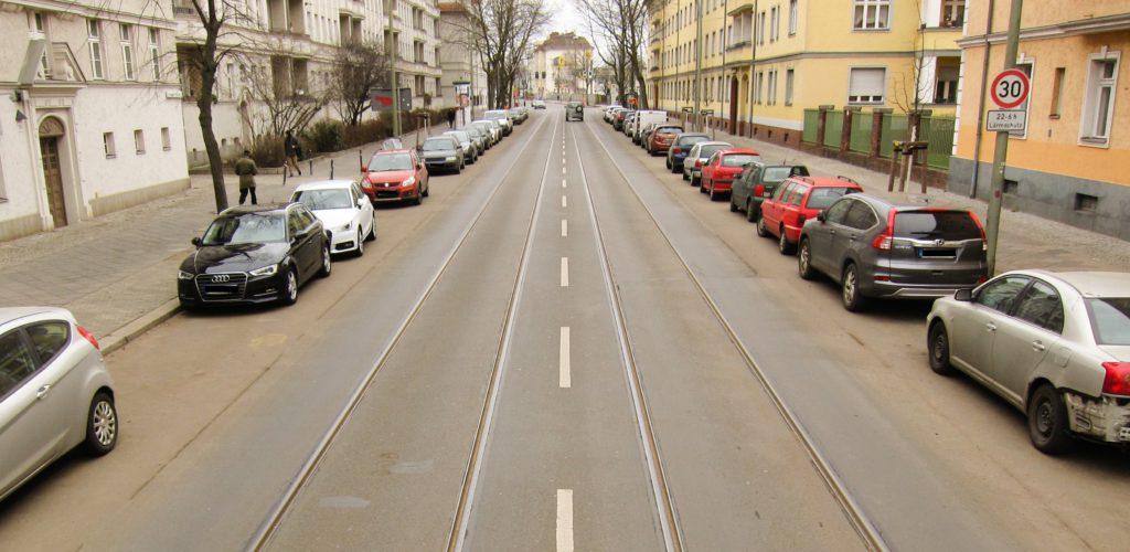 Zustand der Siegfriedstraße im Winter 2017/18